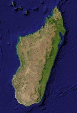 Madagascar Satellite Map