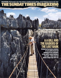The Sunday Times Magazine: 11 November 2007: A A Gill and Raiders of the Lost Bark