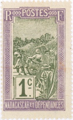 Filanjana: 1-Centime Postage Stamp