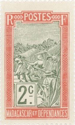 Filanjana: 2-Centime Postage Stamp