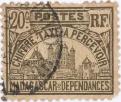 Rova: 20-Centime Postage Stamp