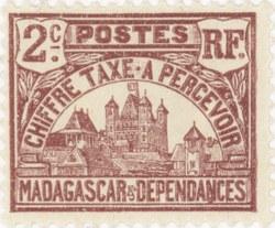 Rova: 2-Centime Postage Stamp
