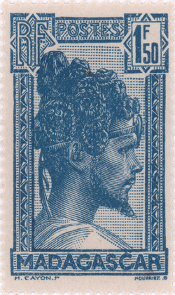 Sakalava Chief: 1.50-Franc Postage Stamp