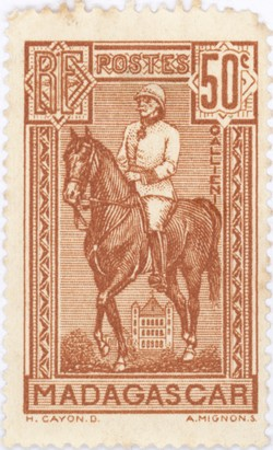General Gallieni on Horseback: 50-Centime Postage Stamp