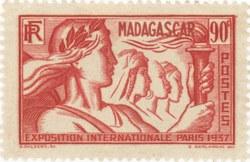 Paris International Exhibition: 90-Centime Postage Stamp