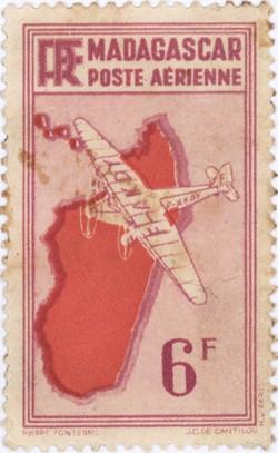 Mailplane: 6-Franc Postage Stamp