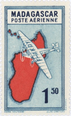 Mailplane: 1.50-Franc Postage Stamp