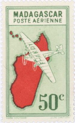 Mailplane: 50-Centime Postage Stamp
