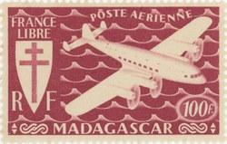 Mailplane: 100-Franc Postage Stamp