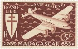 Mailplane: 5-Franc Postage Stamp