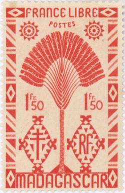 Ravenala Design: 1.50-Franc Postage Stamp