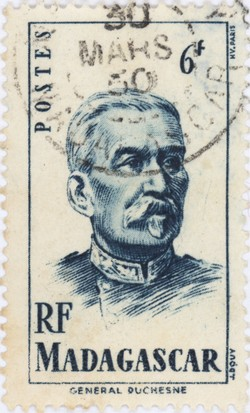 General Duchesne: 6-Franc Postage Stamp
