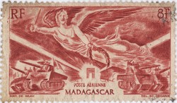 First Anniversary of WWII Victory Day: 8-Franc Postage Stamp