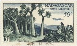 Pachypodium & Euphorbia: 50-Franc Postage Stamp