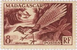 Uratelornis: 8-Franc Postage Stamp