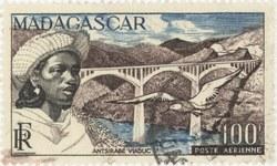 Antsirabe Bridge: 100-Franc Postage Stamp