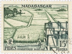 Irrigated Rice Production: 15-Franc Postage Stamp