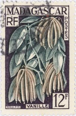 Vanilla: 12-Franc Postage Stamp