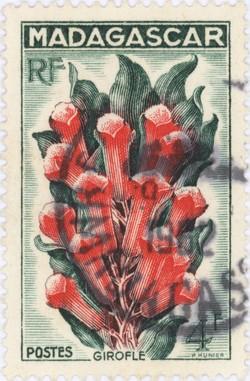 Cloves: 4-Franc Postage Stamp