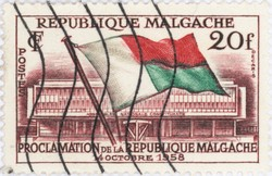 Proclamation of the Malagasy Republic: 20-Franc Postage Stamp