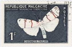 Chionaema pauliani Butterfly: 1-Franc Postage Stamp