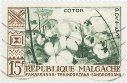 Cotton: 15-Franc Postage Stamp