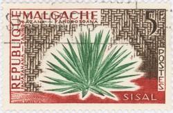 Sisal: 5-Franc Postage Stamp