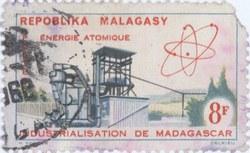 Atomic Energy: 8-Franc Postage Stamp