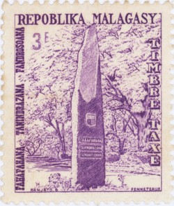 Independence Monument: 3-Franc Postage Stamp