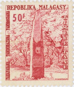 Independence Monument: 50-Franc Postage Stamp