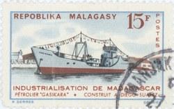 Gasikara Oil Tanker: 15-Franc Postage Stamp