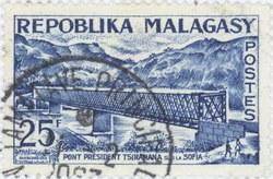 President Tsiranana Bridge: 25-Franc Postage Stamp