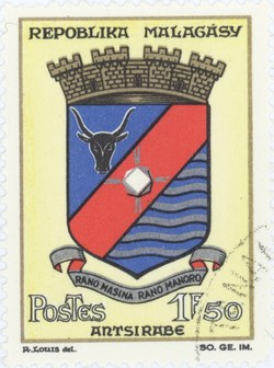 Antsirabe Coat-of-Arms: 2-Franc Postage Stamp