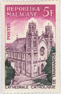 Catholic Cathedral of Antananarivo: 5-Franc Postage Stamp