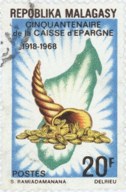 Caisse d'Epargne, 50th Anniversary: 20-Franc Postage Stamp