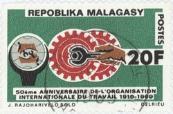 International Labour Organization: 20-Franc Postage Stamp