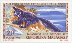 Aye-aye (Daubentonia madagascariensis): 20-Franc Postage Stamp