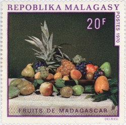 Fruits de Madagascar: 20-Franc Postage Stamp