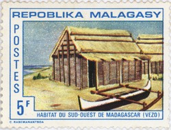 Traditional Southwest Dwelling: 5-Franc Postage Stamp