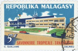 Savonnerie Tropicale: 5-Franc Postage Stamp