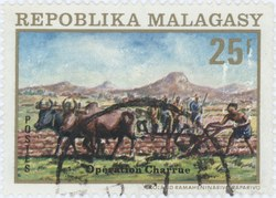 Ploughing: 25-Franc Postage Stamp