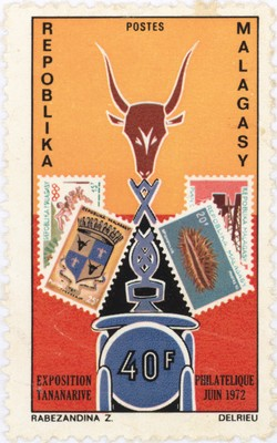 2nd Malagasy Philatelic Exhibition: 40-Franc Postage Stamp