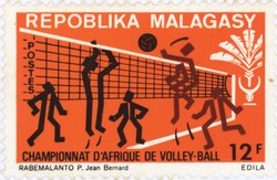 African Volleyball Championship: 12-Franc Postage Stamp