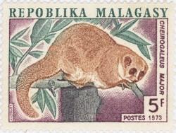 Cheirogaleus major: 5-Franc Postage Stamp