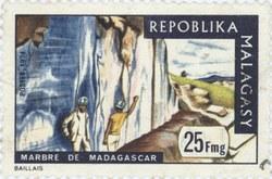 Marble of Madagascar: 25-Franc Postage Stamp