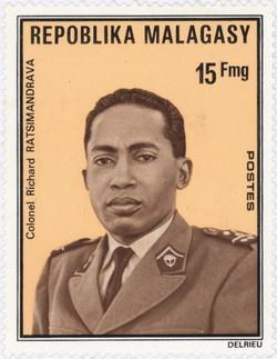 Colonel Richard Ratsimandrava: 15-Franc Postage Stamp