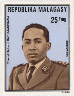 Colonel Richard Ratsimandrava: 25-Franc Postage Stamp