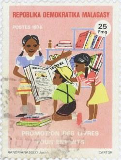 Books for Children: 25-Franc Postage Stamp