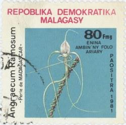 Angraecum ramosum: 80-Franc (16-Ariary) Postage Stamp
