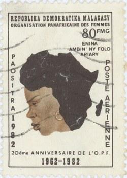 Pan-African Women's Organization: 80-Franc (16-Ariary) Postage Stamp